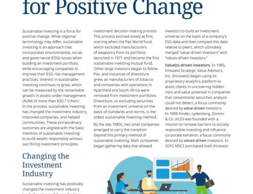 Sustainable Investing A Force for Positive Change