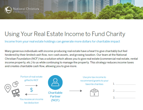 Using Your Real Estate Income to Fund Charity
